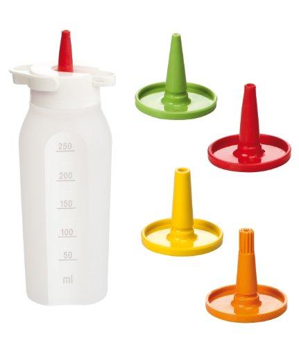 Tescoma 420728 Presto Flacone Dosatore con 4 Beccucci, Plastica, Multicolore, 250 ml,