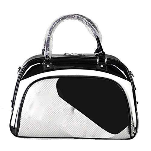 ZoSiP Golf Duffle Bag Sports Fitness Bag Golf Clothing Bag for Men Women PU Leather Waterproof Workout Duffel Bag Sports Gym Travel Bags with Shoe Compartment (Color : White, Size : 48x32x25cm)