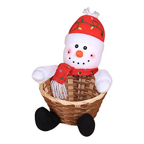 TIREOW - Cestino Portaoggetti Per Caramelle Di Natale, Decorazione Da Ufficio, Cestino Per Caramelle Per Bambini, Decorazione Di Babbo Natale