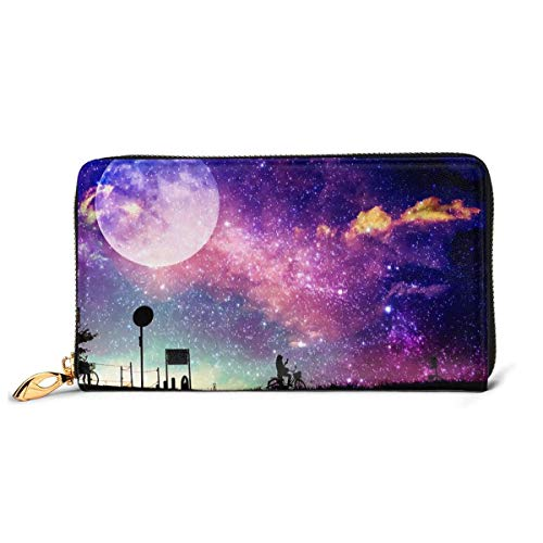 IUBBKI Carteras de Piel Carteras de Mujer Wallets Mushroom Light Credit Card Holder Organizer Ladies Purse Zipper Around Clutch Pocket