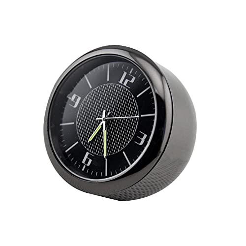 S SMAUTOP Auto-Armaturenbrett-Mini-Uhr, Auto-Uhr, leuchtend, elektronische Quarzuhr, Ornamente mit Lüftungsclip, Innenausstattung
