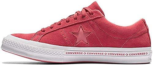 Converse Converse Unisex-Erwachsene Lifestyle One Star Ox Suede Fitnessschuhe, Pink (Paradise Pink/Geranium Pink 637), 45 EU