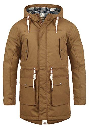 !Solid Chara Herren Winter Jacke Parka Mantel Lange Winterjacke gefüttert mit Kapuze, Größe:M, Farbe:Cinnamon (5056)