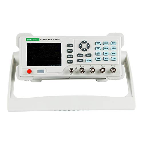 Multímetro digital Medidor de LCR digital de sobremesa ET4402 Puente LCR de escritorio con USB y RS-232, Medidor de resistencia de frecuencia de medición ajustable de 100 hz ~ 20 KHz Medidores de capa