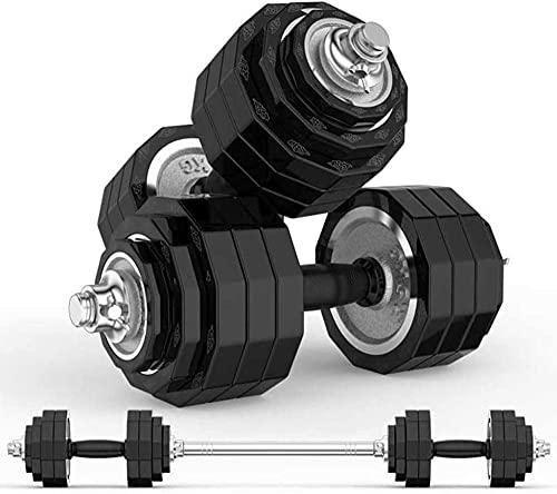 Entrenamiento Galvanizado Dumbbell Home Fitness Equipment Pesmonas Conjunto de Pesas Ajustable Dumbbell Hombres Mancuernas Largas Mancuernas Establecer Entrenamiento-30 kg (2 x 15 kg).