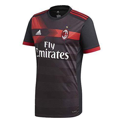 adidas Herren AC Mailand Replica Trikot, Black/Vicred, S