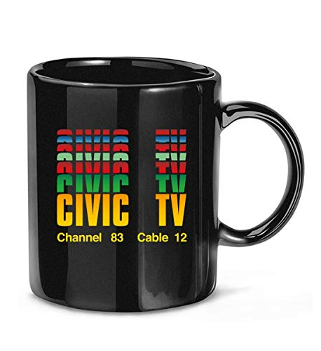 N\A Civic Channel 83 Cable 12 TV Videodrome Civic TV Cult Movie Taza de café para Mujeres y Hombres Tazas de té