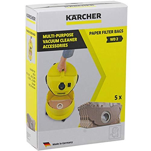 Karcher MV2WD2aspiradora fuerte doble capa bolsas de polvo (Pack de 5)
