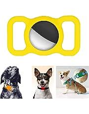 Pet Silikon Skyddsväska för Airtag Gps Finder Dog Cat Collar Loop Holder, Justerbar Anti-lost Locator för Airtags, Skyddsväska för Pet Collar Barn Äldre Väskor (Gul)
