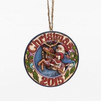 Jim Shore Santa Riding Deer 2015 Ornament