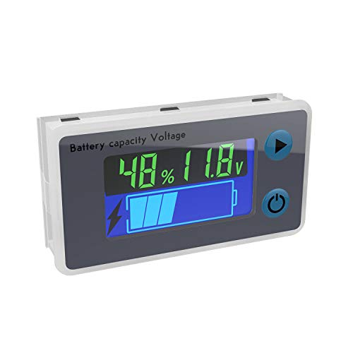 Battery Monitor, DROK 10-100V Digital Battery...