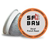 SAN FRANCISCO BAY Coffee DECAF French Roast 80 Ct Natural Water Processed Dark Roast Compostable Coffee Pods, K Cup Compatible including Keurig 2.0 (Packaging May Vary), 80 Count (COMINHKG051155)