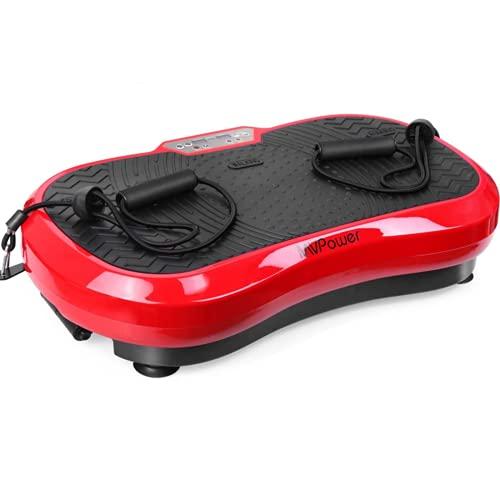 MVPower Vibrationsplatte extra groß Slim und rutschfest, mit Ultra...