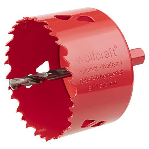 Wolfcraft 5484000 (L) sierras de corona BiM, completo con adaptador y broca piloto, profundidad de corte 40 mm PACK 1, Ø 60 mm