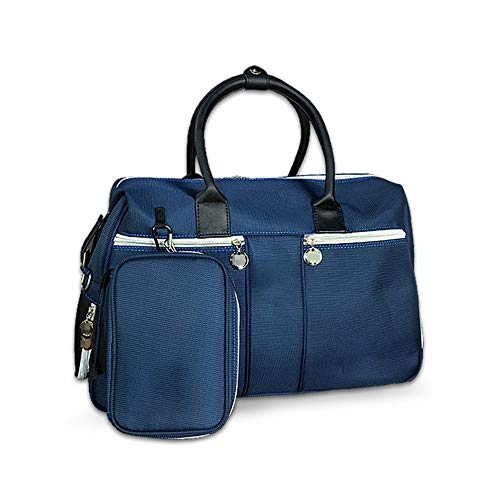 ZoSiP Golf Duffle Bag Sports Fitness Bag Golf Clothing Bag with Shoes Compartment Waterproof Light Weight Travel Gym Sports Duffel Bag for Men and Women (Color : Blue, Size : 50x24x21.5cm)
