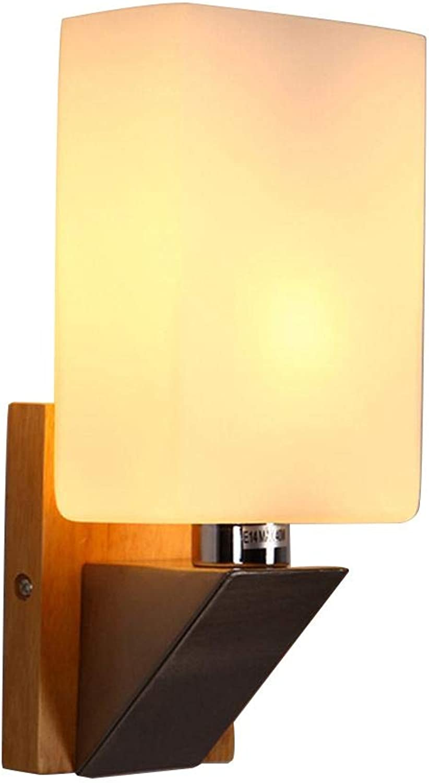 TOYM UK Holz-Wand-Lampe Kreative Aisle Wandleuchte Wandleuchte Europische Schlafzimmer Bettleselampe Massivholz-Wohnzimmer-Wand-Lampe (Farbe   1 Bulbs)