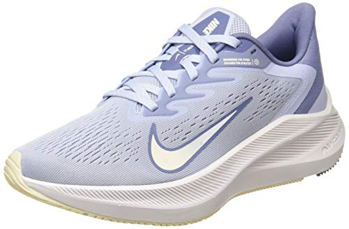 Nike Zoom Winflo 7, Running Shoe Mujer, Ghost/World Indigo-Guava Ice, 40 EU