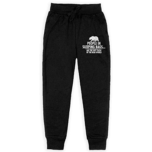 not applicable Los Adolescentes de algodón pantalón, Unisex Sacos de Dormir Oso Pantalón elástico con cordón del Basculador de Pantalones con Bolsillos, S-XL