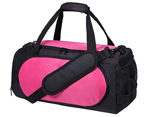 MIER Small Gym Sports Bag for Women Ladies and girls with Shoes Compartment, 18 Inches