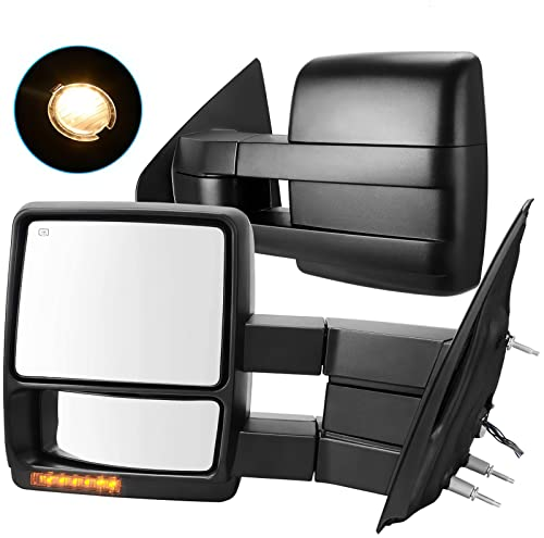 AUTOSAVER88 Towing Mirrors Compatible with 07-14 Ford F150 Truck, Trailer Tow...