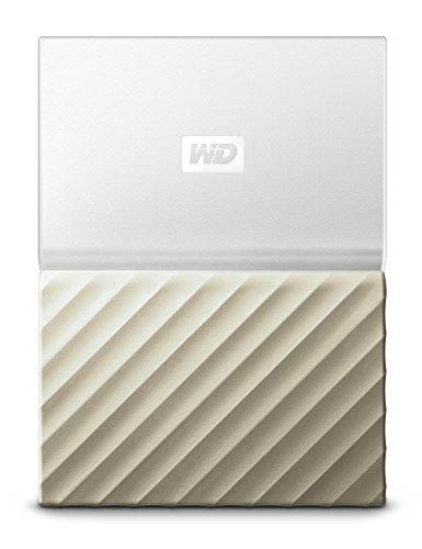 WD 1TB My Passport Ultra Portable External Hard Drive - USB 3.0 - White-Gold - WDBTLG0010BGD-WESN (Old Generation)