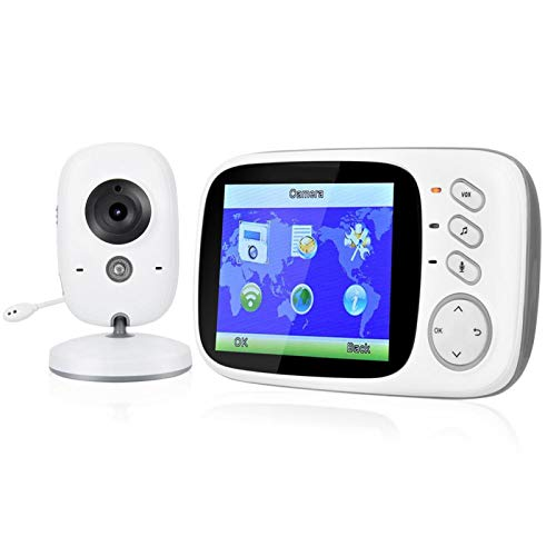 Cámara de videovigilancia con Monitor para bebés de 8 Canciones de Cuna(Australian regulations (100-240V))