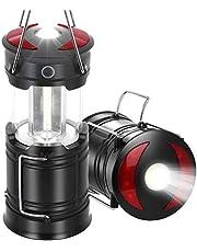 Linterna con luz LED para acampar, lámpara plegable con alimentación por USB, luz COB portátil ultrabrillante para exteriores, para acampar, senderismo, reparación de automóviles, pesca nocturna