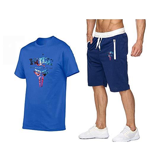 LIXIAOLAN Ropa De Los Hombres 2020 Camisetas Y Shorts Fija El Juego De Los Deportes De Los Hombres De Dos Piezas De La Ropa Deportiva De Jogging Homme T Shirts Conjuntos,A1,XL