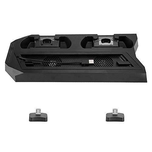 Controller-oplader, dubbele ventilatorkoeler 2 laadstation dockstaanderhouder 3-poorts USB-hub voor PS4 Slim/Pro