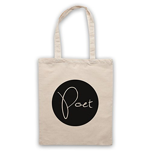 My Icon Art & Clothing Poet Hipster Bolso, Natural
