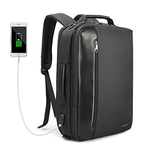 UBAYMAX Zaino Business per PC Portatile Uomo Zaino d' Affari per 15,6 Laptop, Zaini Impermeabile con USB Porta,Multifunzione Zaino Casuale/Briefcase/Borsa Spalla/Borsa a Mano (03-Nero)