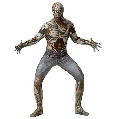 Disfraz de Esqueleto de Vaquero de Halloween de Cary, Disfraz de conformación de Zombi de Cosplay de Vacaciones Aterrador, Fiesta de jardín de Noche de Carnaval de Halloween, Entretenimiento y disfr