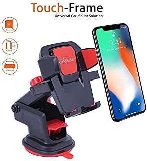 ASUSE 360 Degree Rotating Expandable Touch Frame Car Mount/Mobile Holder (Red)