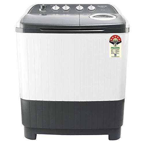 Panasonic 8 Kg 5 Star Semi-Automatic Top Loading Washing Machine (NA-W80E5HRB, Grey, Powerful Motor)