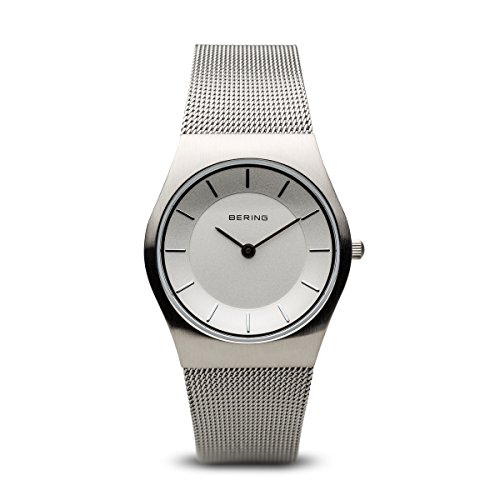 Bering Damen Analog Quarz Uhr mit Edelstahl Armband 11930-001