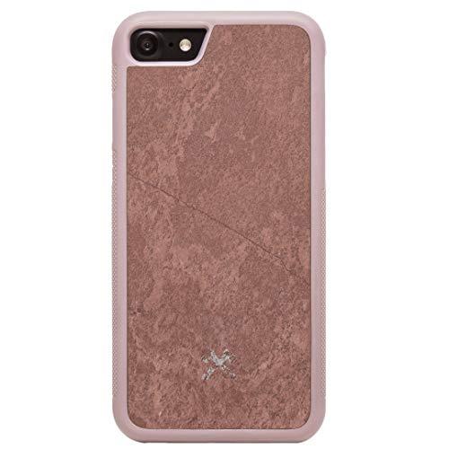 Woodcessories - Hülle kompatibel mit iPhone SE (2020) / 8/7 aus hochwertigem Stein, EcoBump Stone (Canyon Rot)