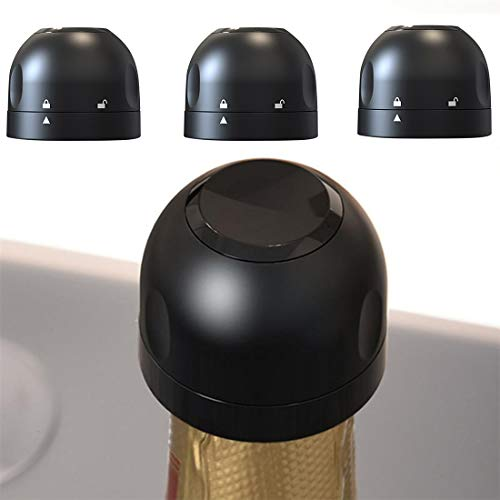 XIUNPR-6 Tapón de champán, tapón de Botella de Vino Sellado de Silicona Tapón de champán Barra de Cava Accesorios para Herramientas de Fiesta para Cava y Vino espumoso-3 Piezas