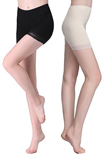 Vinconie Bragas Pantalon Mujer Boxer Encaje Short Leggings Cortos Bajo Falda