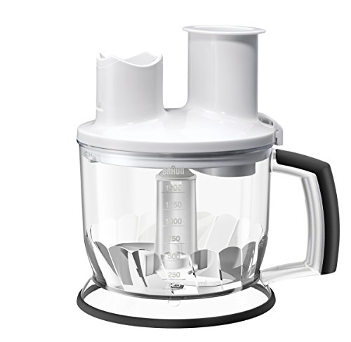 Braun Küchenmaschinen Aufsatz MQ 70 - Stabmixer Zubehör kompatibel mit Braun MultiQuick 3 - 7 mit EasyClick System, weiß