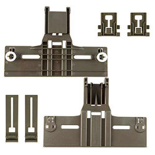 6 Packs UPGRADED W10350376(2) W10195840(2) W10195839(2) Dishwasher Top Rack Parts for Kenmore elite,W/ 0.9 In Diameter Wheel,kitchen Aid whirlpool kenmore Dishwasher Adjuster 665,w10350374,wdt730pahz0