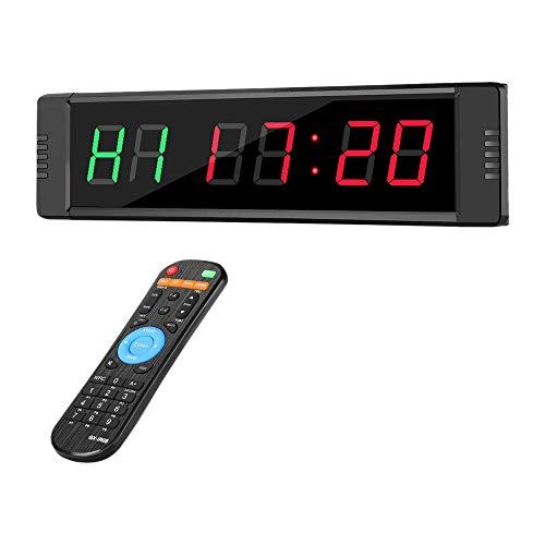 ACAMPTAR El Temporizador de Intervalo LED Programable Reloj CronóMetro Deportes para el Gimnasio de Fitness Enchufe de la EU