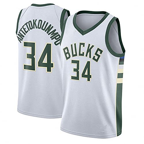 AGLT 2021 Hombre Basketball Shirts NBA Bucks n#34 Alphabet Brother Pantalones Cortos de Baloncesto de Verano para Hombre, Deportivos,Pantalones Cortos,V2,XXL