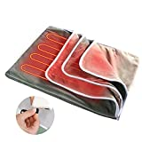 Cordless Battery Heated Blanket 40x30Inch,Portable USB Electric Heated Throw,3 Heating Levels, 2 Hours Auto-Off Setting,Include Power Bank 10000mAh