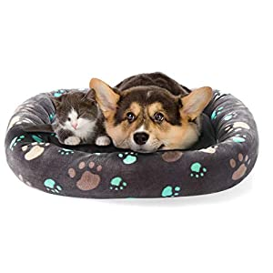 Allisandro Extra Thickness Dog and Cat Bed Crate Mat | Pet Crate Pad, Fluffy Dog Mats for Sleeping | Machine Washable, Dryer Friendly, and Non-Slip Design Dog Bed, 26″ L X 19″ X 3.7″ H