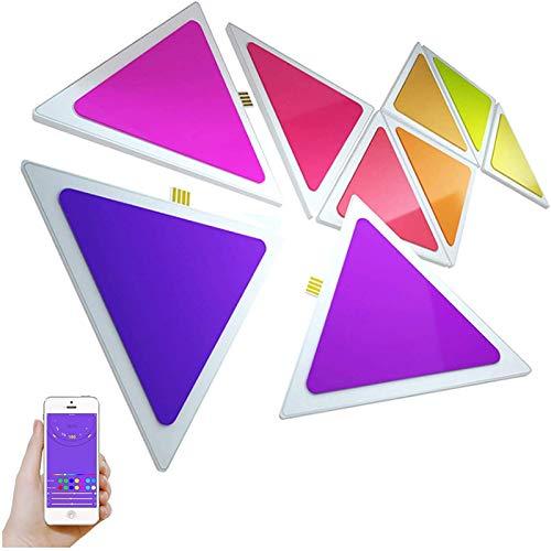 WYFX Lámpara de Pared RGB, Sensor táctil de Cambio de Color Colorido, lámparas Triangulares, iluminación Sensible al Tacto, luz Nocturna, decoración Creativa para el hogar, Paquete de 6
