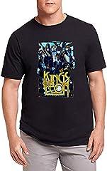 Hombre Kings of Leon Poster Camiseta T-Shirt tee Top Shirt Black