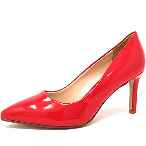 Buffalo Damen Alivia Pumps, Rot (Red 000), 39 EU