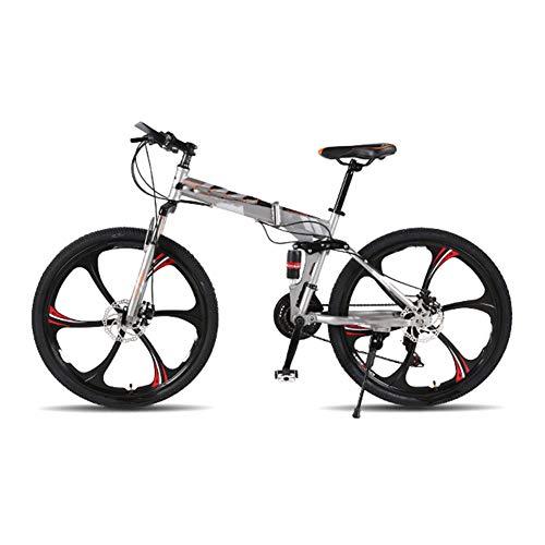 LCLLXB Bicicleta de Estilo Libre Bicicleta Bicicleta de MontañA 21 Velocidad Off-Road Estudiantes Masculinos y Femeninos Adultos Ruedas Bicicleta Plegable
