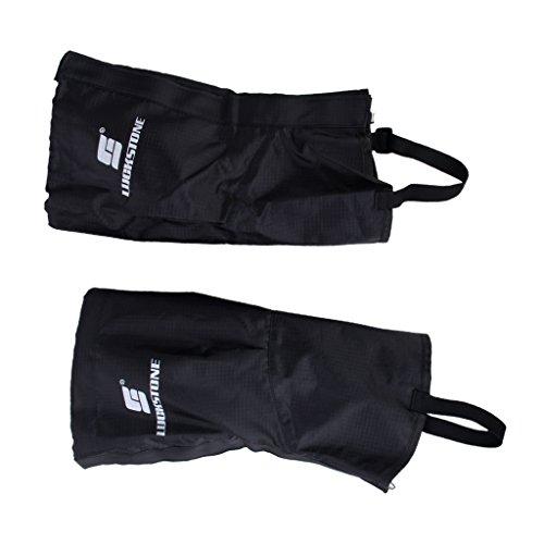 Non-Brand 1 Paire De Randonnée Imperméable Noir Escalade Neige Legging Guêtres Couvre Jambes - Grande Taille