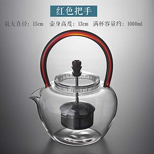 Hervidor, juego de té de cerámica, hervidor de ace Jarra de vidrio con hervidor de vidrio Tarro de agua de vidrio Tarro grueso Resistente al calor Capacidad de gran capacidad Hervir agua de elevación